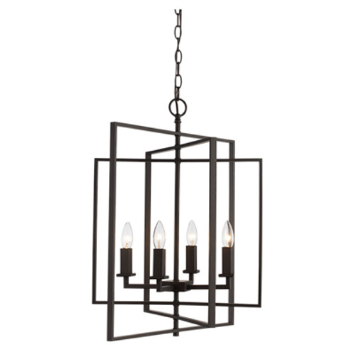 "Trans Globe Lighting 10595 ROB 20"" Indoor Rubbed Oil Bronze Industrial Pendant"