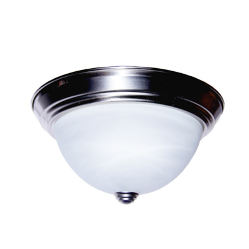 "Trans Globe Lighting 13617 BN 11"" Indoor Brushed Nickel Traditional Flushmount"