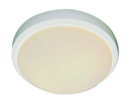 "Bliss 11"" Indoor White Traditional Flushmount with White Frost Glass Shade"