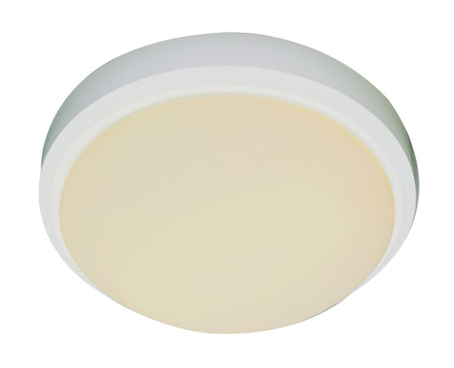 "Bliss 13"" Indoor White Traditional Flushmount with White Frost Glass Shade"