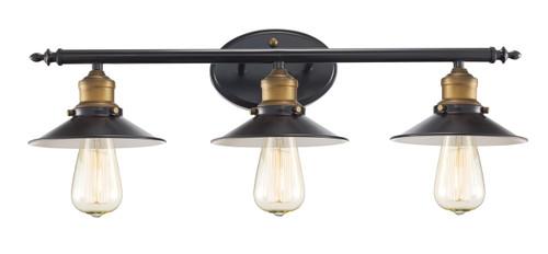 "Trans Globe Lighting 20513 ROB 25"" Indoor Rubbed Oil Bronze Industrial Vanity Bar"