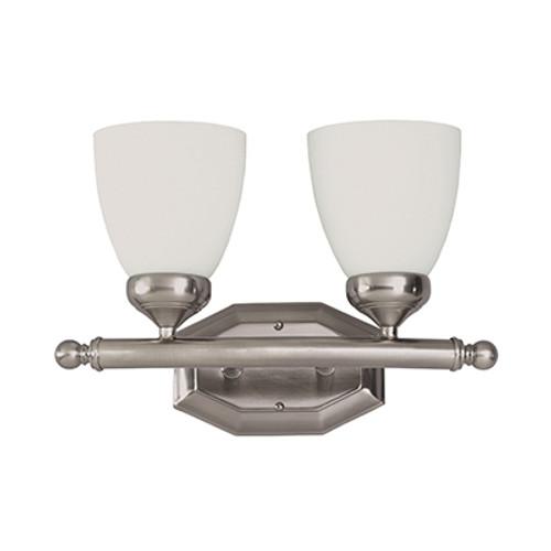 "Trans Globe Lighting 2512 BN 16"" Indoor Brushed Nickel Traditional Vanity Bar"