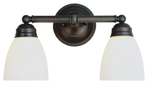 """Ardmore 15.75"""" Indoor Rubbed Oil Bronze Traditional Vanity Bar with White Frosted Glass"""