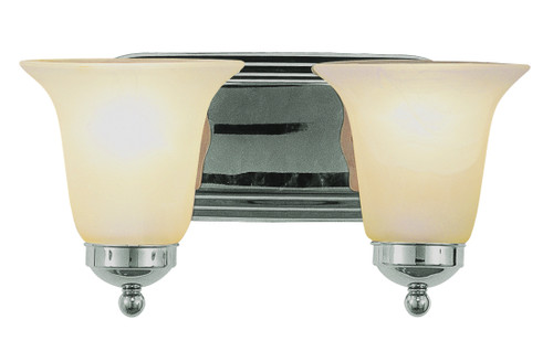 "Rusty 14"" Indoor Polished Chrome Traditional Vanity Bar"