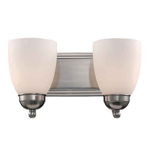 "Trans Globe Lighting 3502-1 BN 14"" Indoor Brushed Nickel Traditional Vanity Bar"