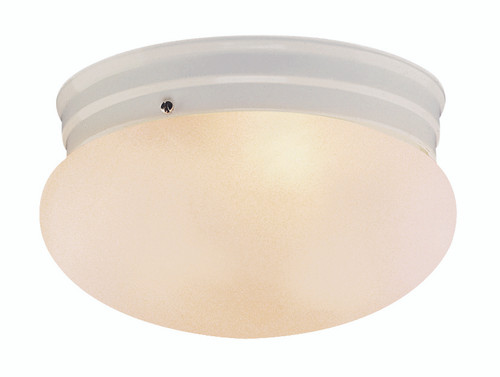 """Dash 10"""" Indoor White Traditional Flushmount with Opal Glass Globe Shade"""