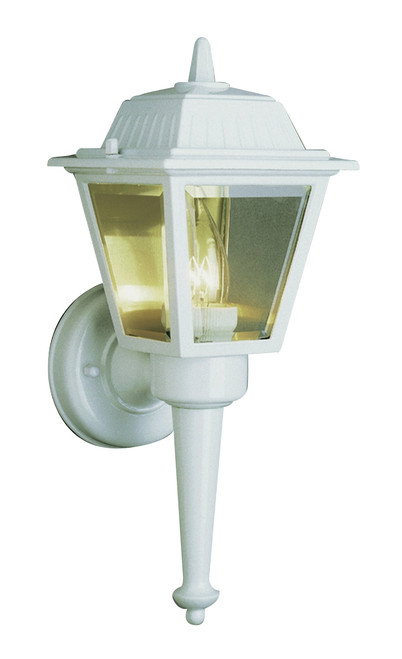 "Estate 14"" Outdoor White Wall Lantern with Traditional Coach Style"