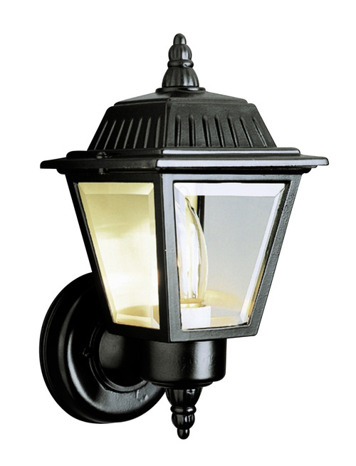 "Estate 7.5"" Outdoor Black Wall Lantern with Traditional Coach Style"