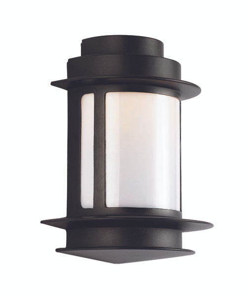 "Bridgette 11.25"" Outdoor Black Transitional Wall Lantern with Weather Resistant Frame"