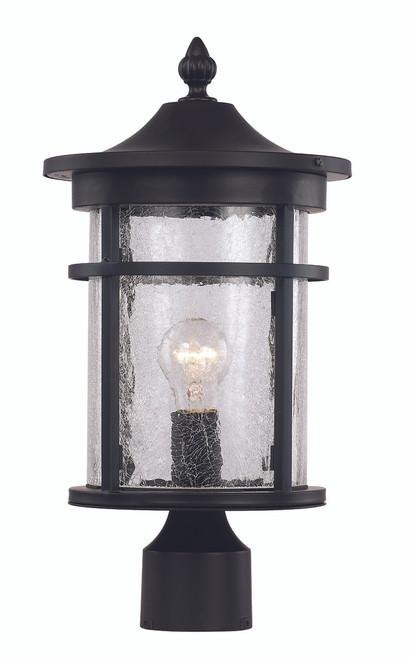 "14.5"" Outdoor Black Transitional Postmount Lantern"