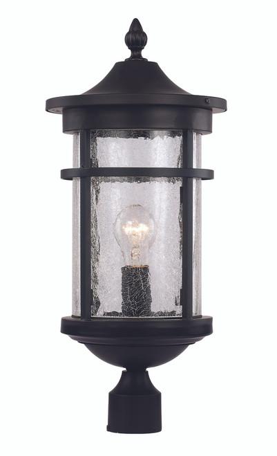 "16.75"" Outdoor Black Transitional Postmount Lantern"