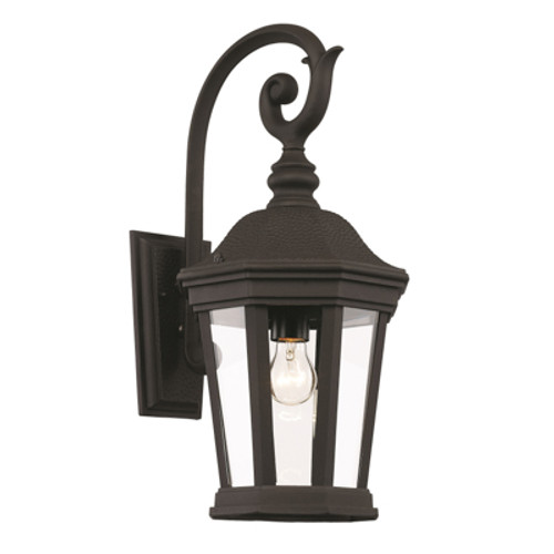 "Trans Globe Lighting 40401 BK 21"" Outdoor Black Traditional Wall Lantern"
