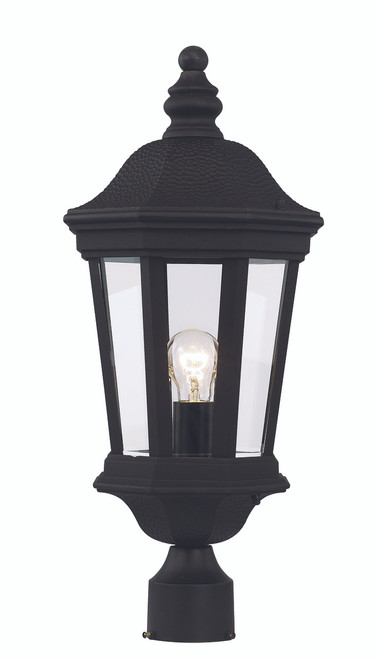 "Westfield 22.25"" Outdoor Black Traditional Postmount Lantern"