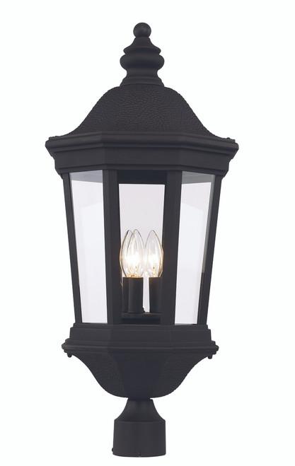 "Westfield 27.5"" Outdoor Black Traditional Postmount Lantern"