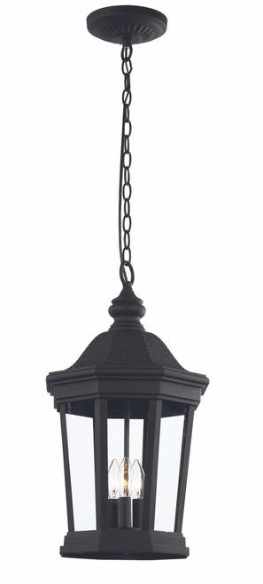 "Westfield 22"" Outdoor Black Traditional Hanging Lantern"