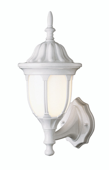 """Hamilton 19"""" Outdoor White Traditional Wall Lantern with Classic Landscaping Light Asthetics"""