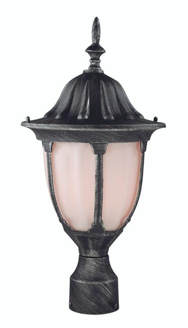"Hamilton 19"" Outdoor Swedish Iron Traditional Postmount Lantern with Classic Landscaping Light Asthetics"