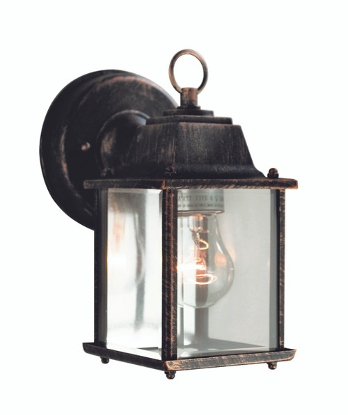 """Patrician 8"""" Outdoor Black Copper Traditional Wall Lantern"""