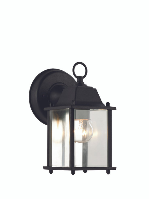 """Patrician 8"""" Outdoor Black  Traditional Wall Lantern"""