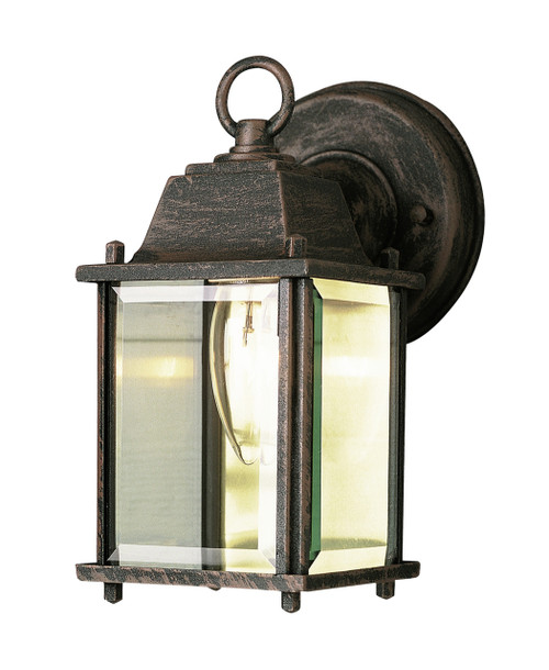 """Patrician 8"""" Outdoor Rust Traditional Wall Lantern"""