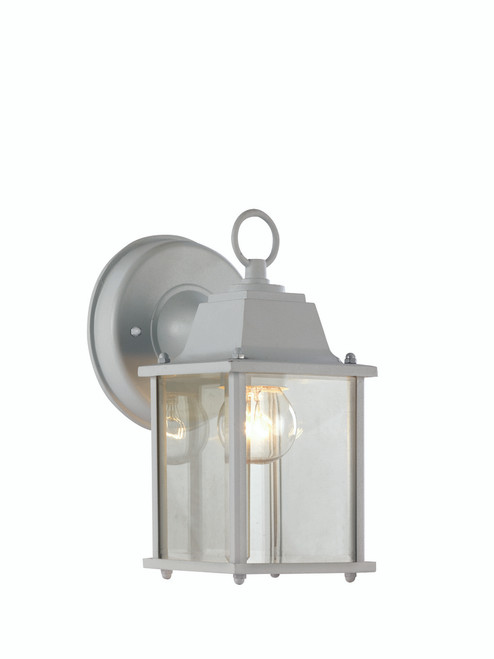 """Patrician 8"""" Outdoor White Traditional Wall Lantern"""
