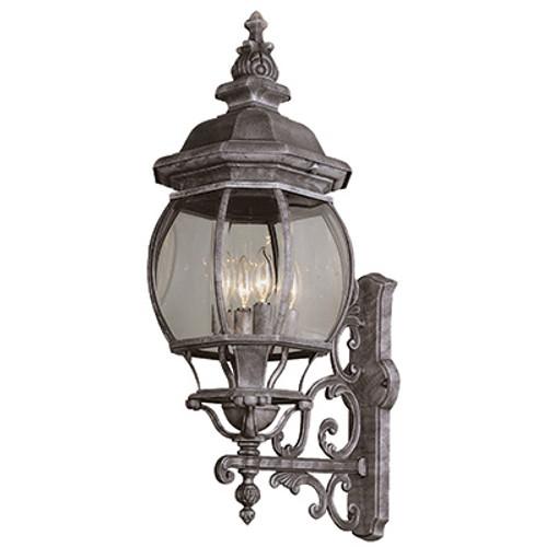 "Trans Globe Lighting 4052 SWI 32"" Outdoor Swedish Iron Tuscan Wall Lantern"