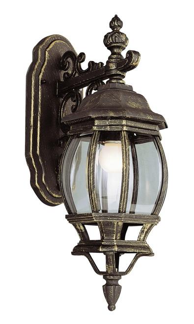 "Francisco 20"" Outdoor Black Gold Tuscan Wall Lantern"