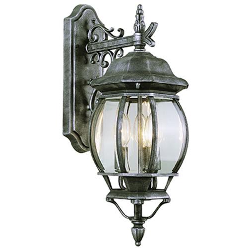 "Trans Globe Lighting 4054 SWI 25"" Outdoor Swedish Iron Tuscan Wall Lantern"