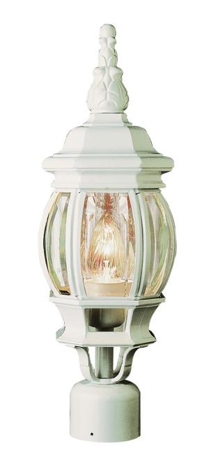 "Parsons 19.5"" Outdoor White Traditional Postmount Lantern"