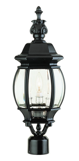"Parsons 22"" Outdoor Black Traditional Postmount Lantern"