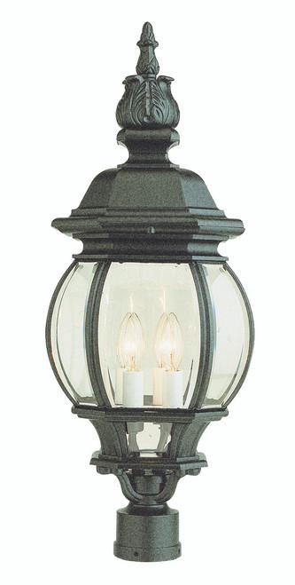 "Parsons 28"" Outdoor Black Traditional Postmount Lantern"