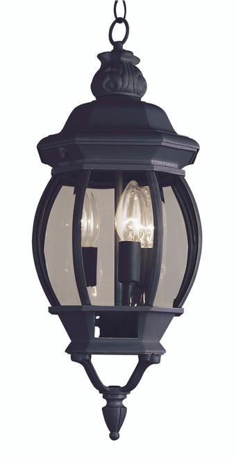 "Parsons 25"" Outdoor Black Traditional Hanging Lantern"