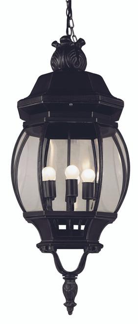 "Parsons 32"" Outdoor Black Traditional Hanging Lantern"