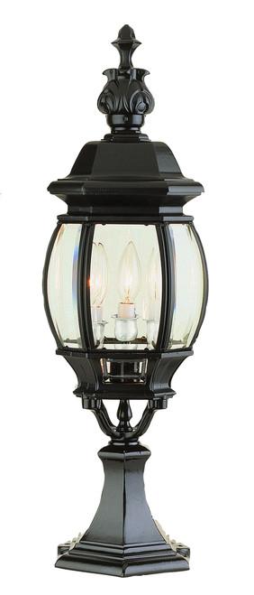 "Francisco 23"" Outdoor Black Tuscan Postmount Lantern"