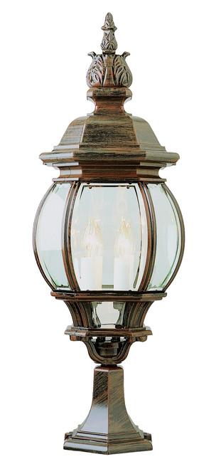 "Francisco 30"" Outdoor Rust  Tuscan Postmount Lantern"