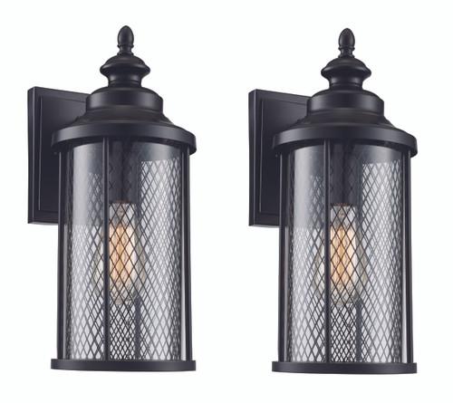 "Stewart 12"" Outdoor Black Industrial  Wall Lantern"
