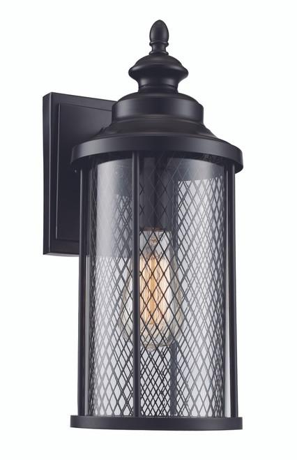 "Stewart 16"" Outdoor Black Industrial  Wall Lantern"