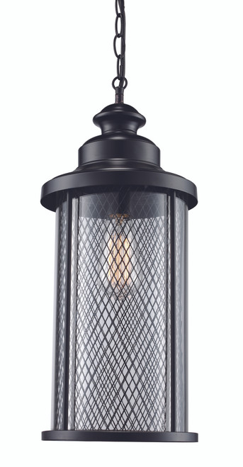 "Stewart 16"" Outdoor Black Industrial  Hanging Lantern"