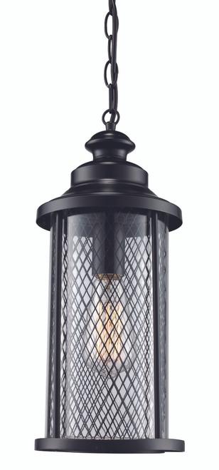 "Stewart 20.5"" Outdoor Black Industrial  Hanging Lantern"