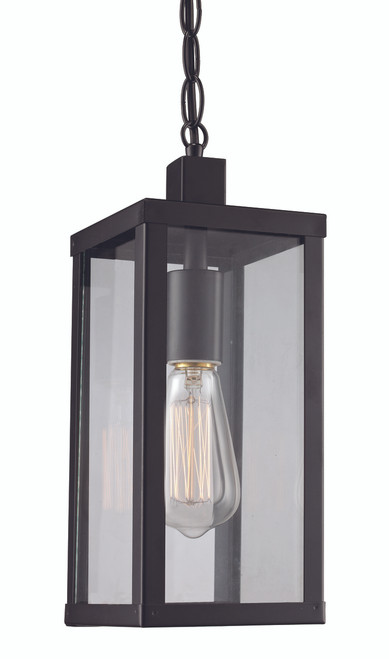 "Oxford 14.25"" Outdoor Black Industrial  Hanging Lantern"