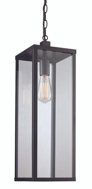 "Oxford 20.25"" Outdoor Black Industrial  Hanging Lantern"