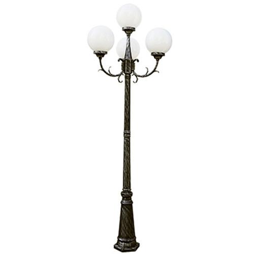 "Trans Globe Lighting 4080 SWI 89"" Outdoor Swedish Iron French Country Pole Light"