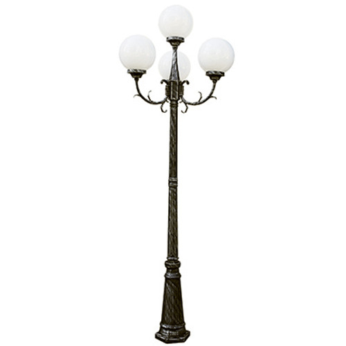 "Trans Globe Lighting 4080 SWI 89"" Outdoor Swedish Iron French Country Pole Light"