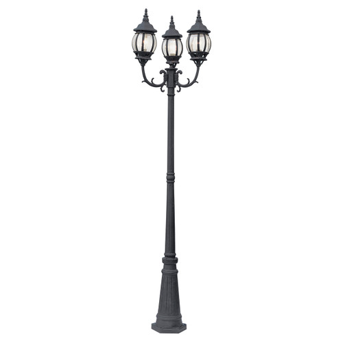 "Parkway 91.5"" Outdoor Black French Country Pole Light"