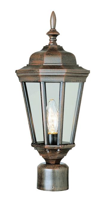 "San Rafael 20.75"" Outdoor Rust Traditional Postmount Lantern"