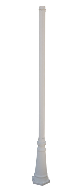 "Downtown 90"" Outdoor White Traditional Pole Base"