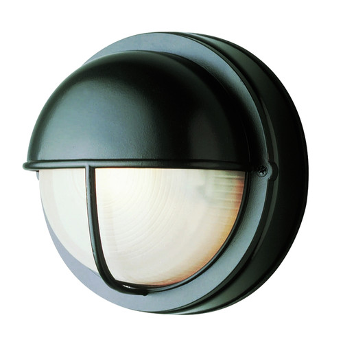 """Well Well Collection 8"""" Outdoor Black Traditional Bulkhead Wall Light"""