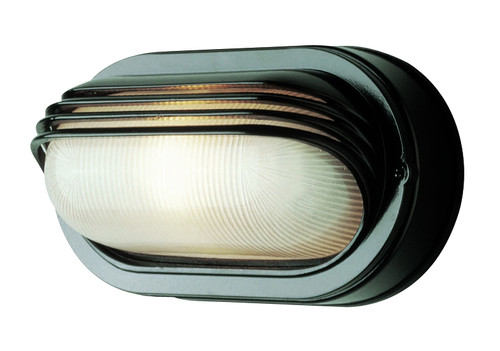 """Allegra Collection 8.5"""" Outdoor Black Traditional Oval Bulkhead Wall Light"""