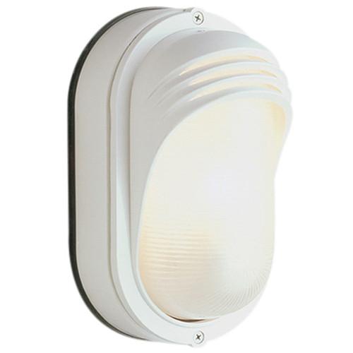 "Trans Globe Lighting 4124 WH 8.5"" Outdoor White Traditional Bulkhead"