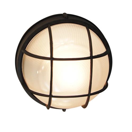 "Trans Globe Lighting 41515 BK 10"" Outdoor Black Nautical Bulkhead"
